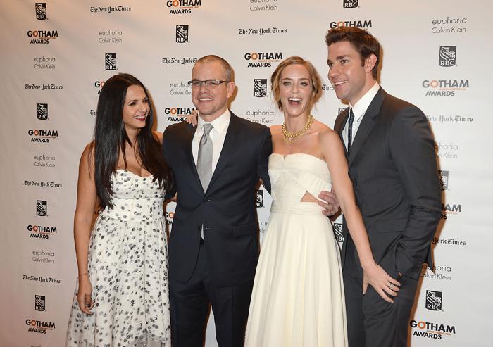 Luciana Boxan, Matt Damon, Emily Blunt och John Krasinski