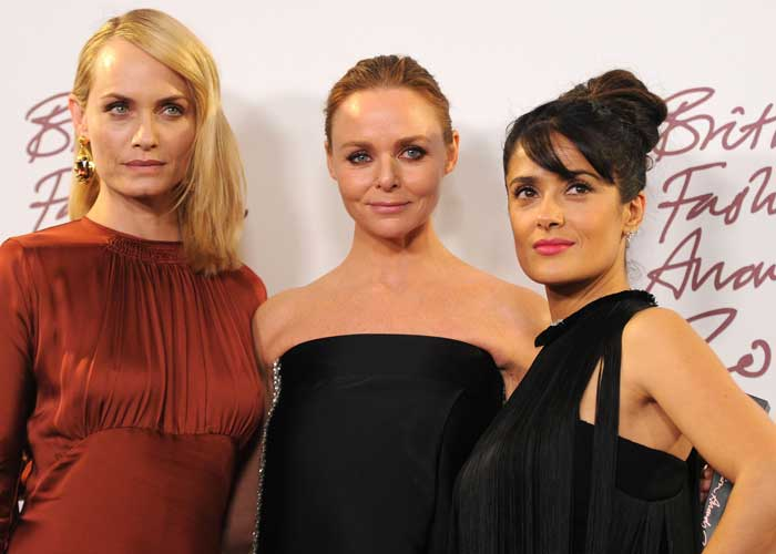 Amber Valletta, Stella McCartney och Salma Hayek