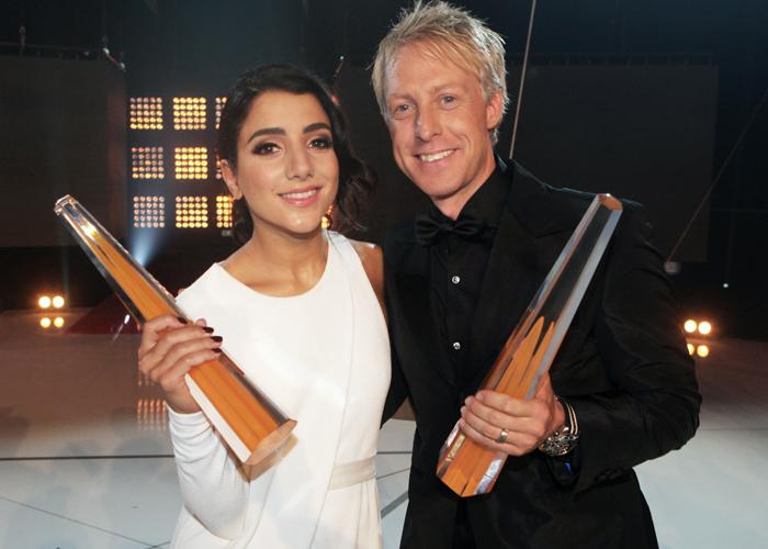 Gina Dirawi och André Pops