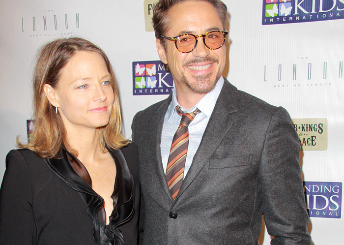 Jodie Foster och Robert Downey Jr.