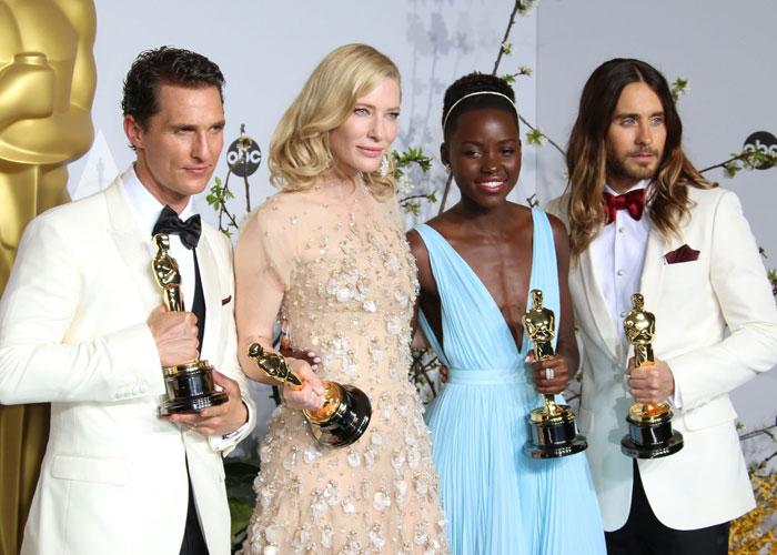 Matthew McConaughey, Cate Blanchett, Lupita Nyongo och Jared Leto