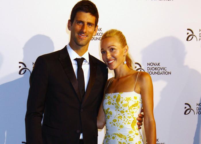 Novak Djokovic och Jelena Ristic