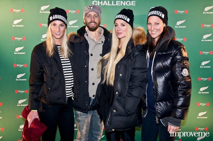Ida Kjos, Lars Frölander & Andrea Myrander med vän