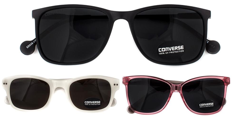 Vill man skugga ögonen har man 6 olika modeller av solglasögon att välja mellan.