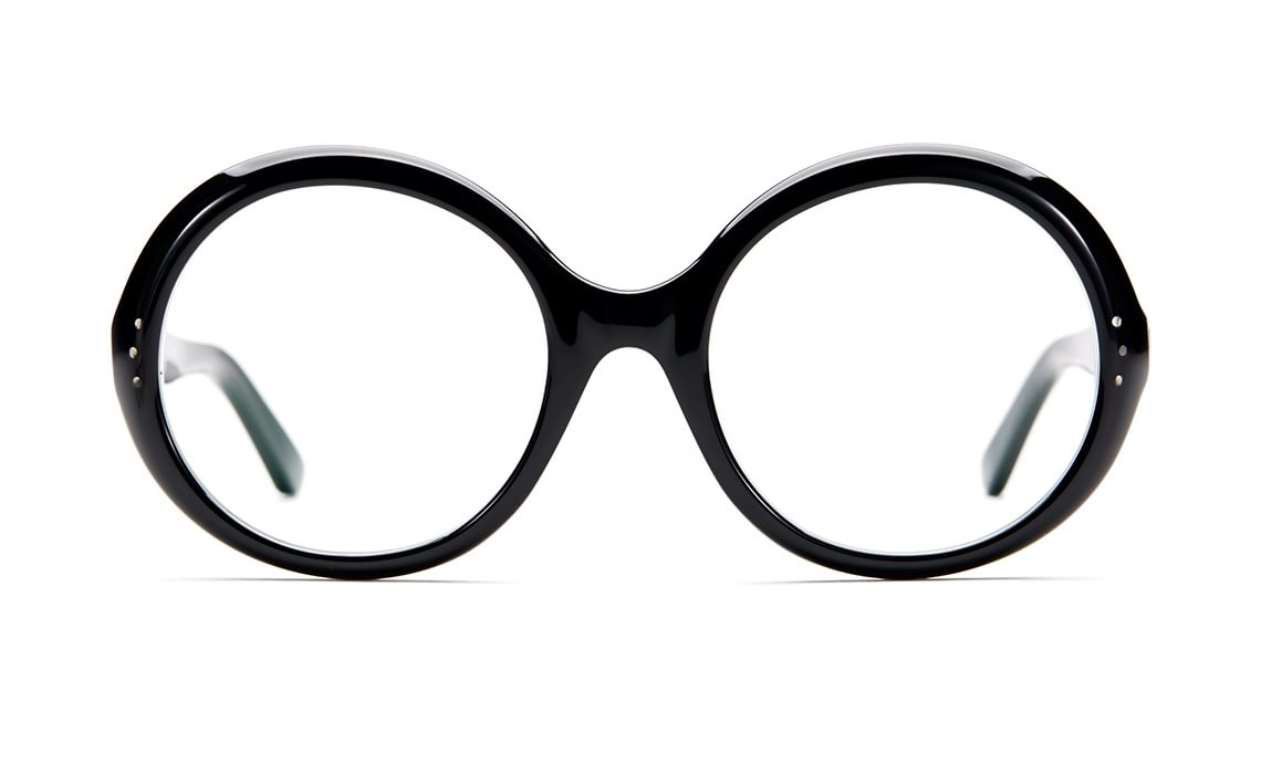 stora runda glasögon