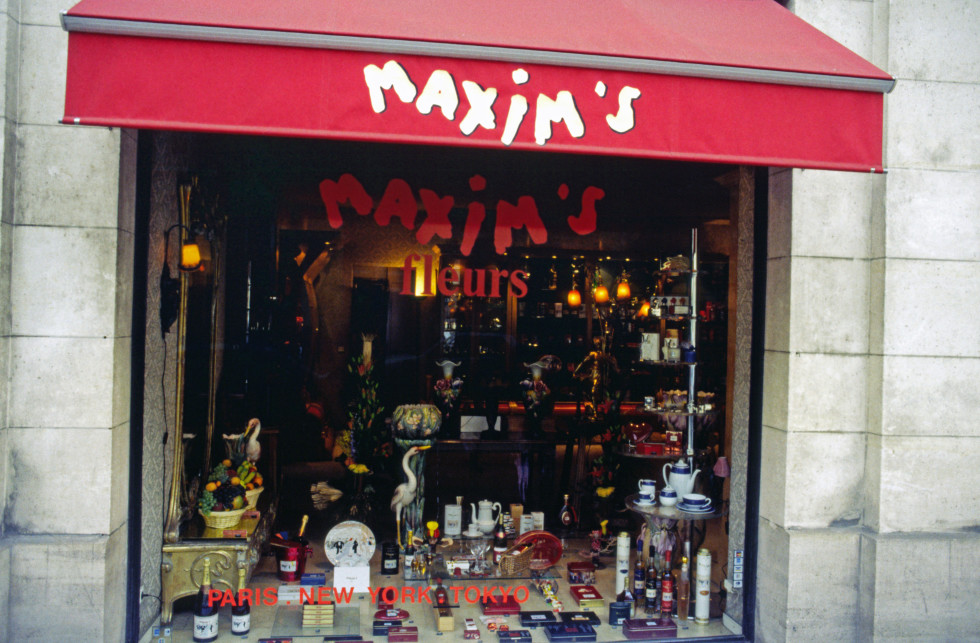 Maxim s famous restaurant at Paris France