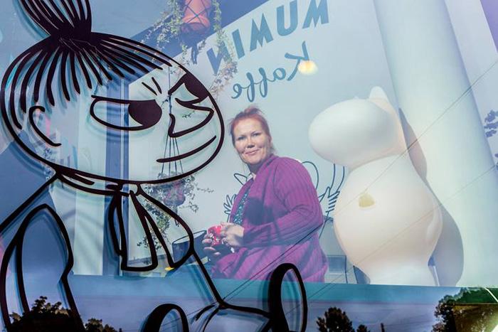Sanna Kiiski har grundat Mumin Kaffe-caféerna som nu öppnar i Gamla stan i Stockholm. Foto: Esko Jämsä/ Kirkko ja kaupunki