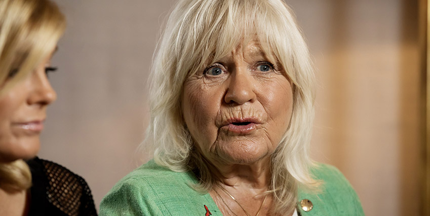 Christina Schollin, Presstr‰ff Wahlgrens v‰rld  2017-08-31 (c) SANDBERG MAGNUS  / Aftonbladet / IBL Bildbyr* * * EXPRESSEN OUT * * * AFTONBLADET / 4560